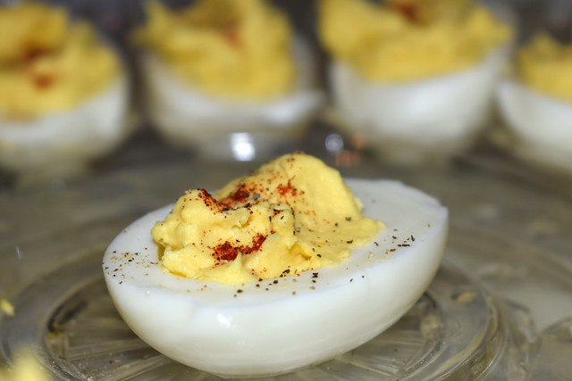 Plate With Deviled Eggs.