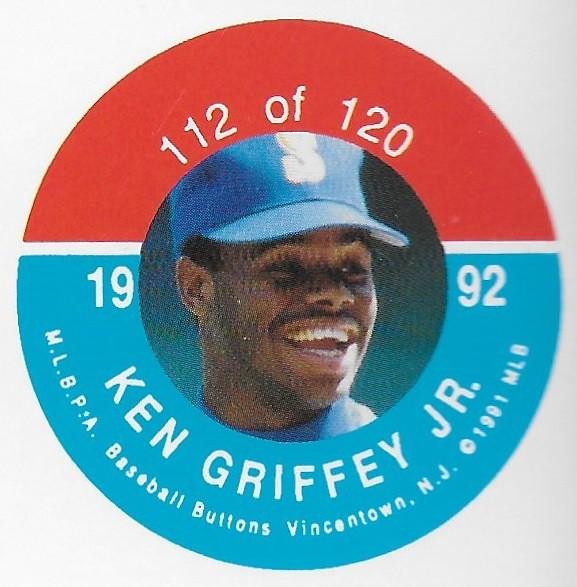 1992 JKA Vincentown Button Proof Square - Griffey Jr, Ken