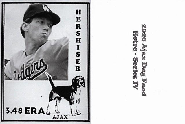 2020 Ajax Dog Food Retro Alt Back - Hershiser, Orel2