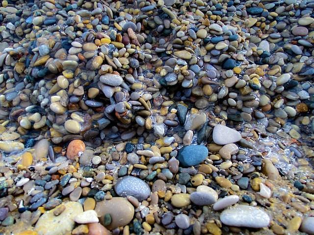 Frozen Beach Stones
