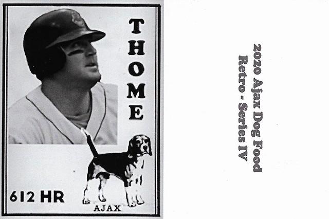 2020 Ajax Dog Food Retro Alt Back - Thome, Jim2