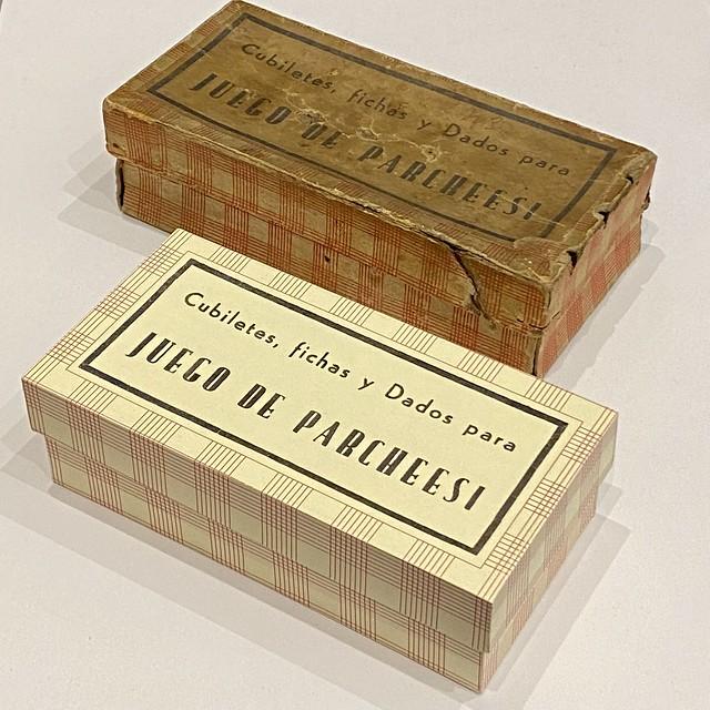 Old Parcheesi game box & Replica