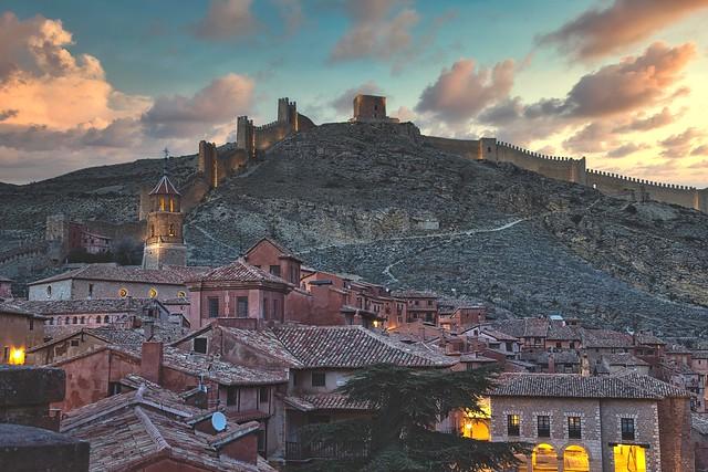 Albarracin at Dusk. Aragon, Spain