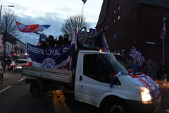 Rangers football. Lub winning celebration