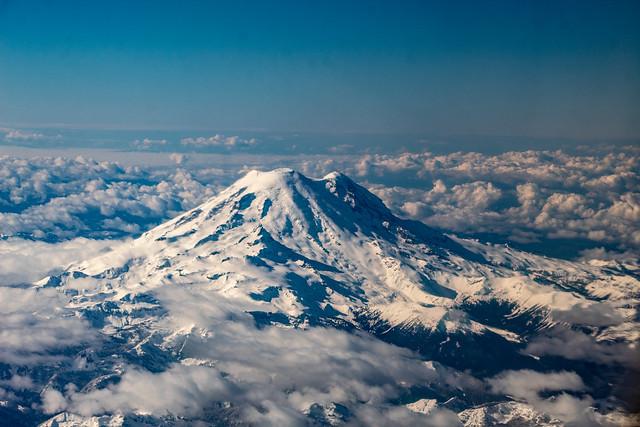 Mount Rainier from the plane