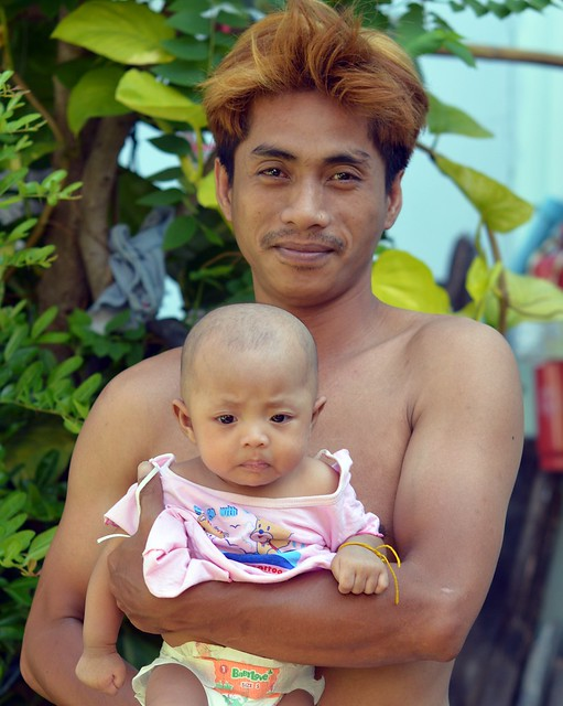 young father with baby