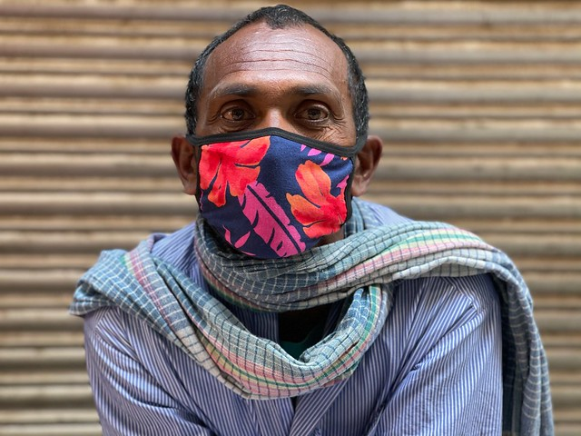 City Style - Mask with Flowers, Roshanpura