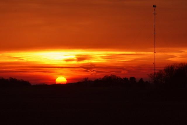 Sunset at Brimfield Indiana
