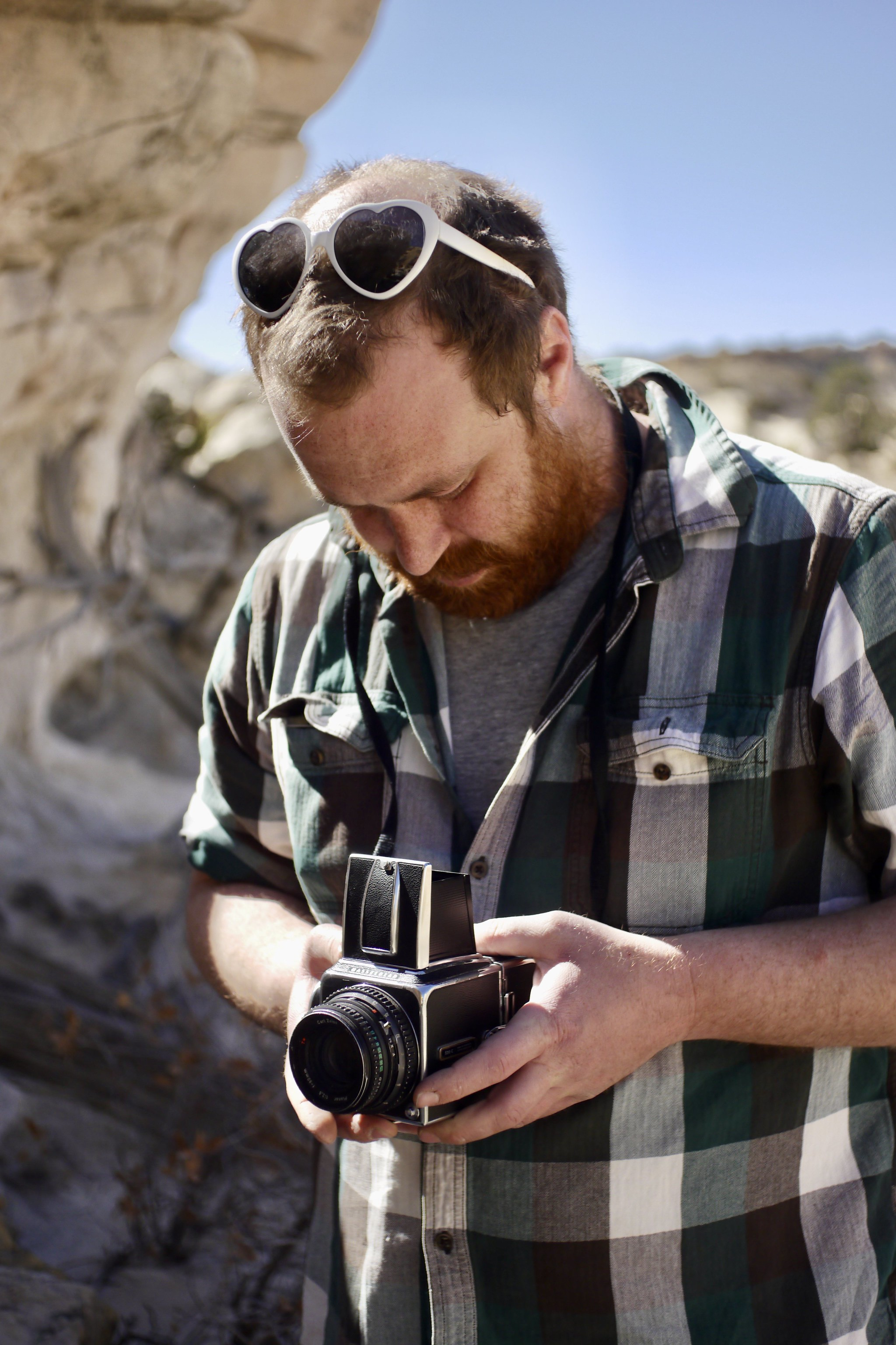 Ethan Moses & Hasselblad at Ojito Wilderness