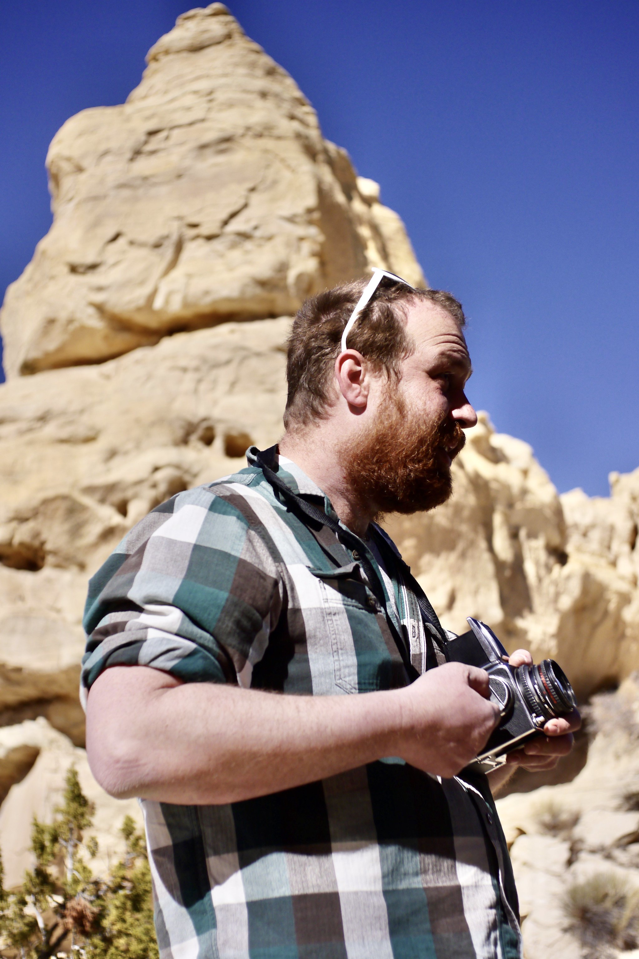 Ethan & Hasselblad at Ojito Wilderness