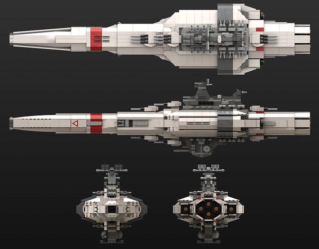 HMS Dauntless - Orthographic