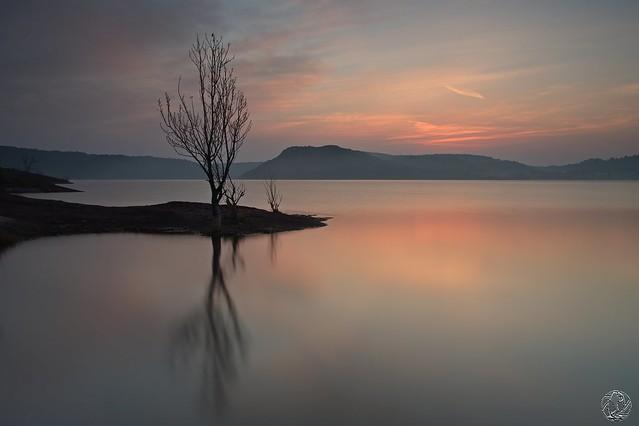 Un matin au bord du lac du Salagou