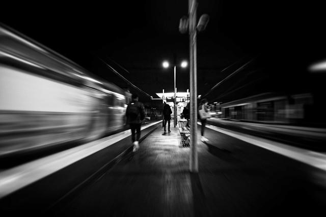 Transport, RER D, B&W, 29