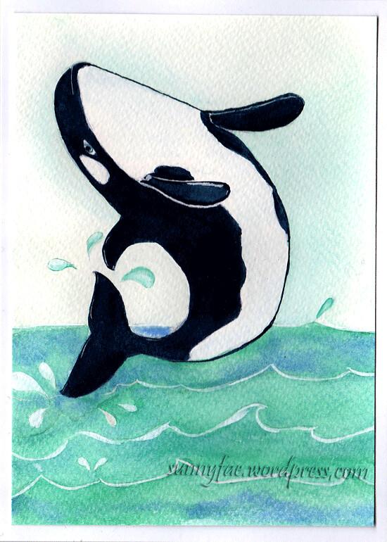 orca birthday card