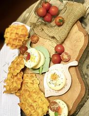 Mandioca waffles