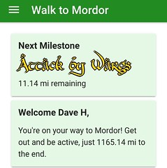This isn't a great incentive - after almost a year of walking, I get to be attacked by Wargs?