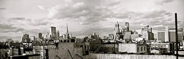 Lower Manhattan and Brooklyn Skyline, Winter, 1992