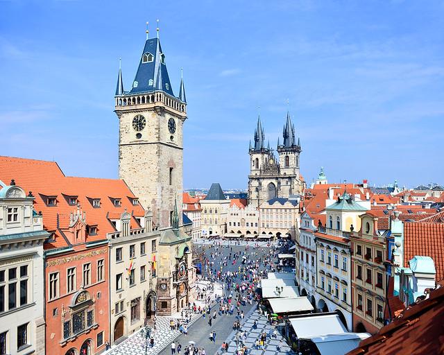 Praga desde la terraza U Prince