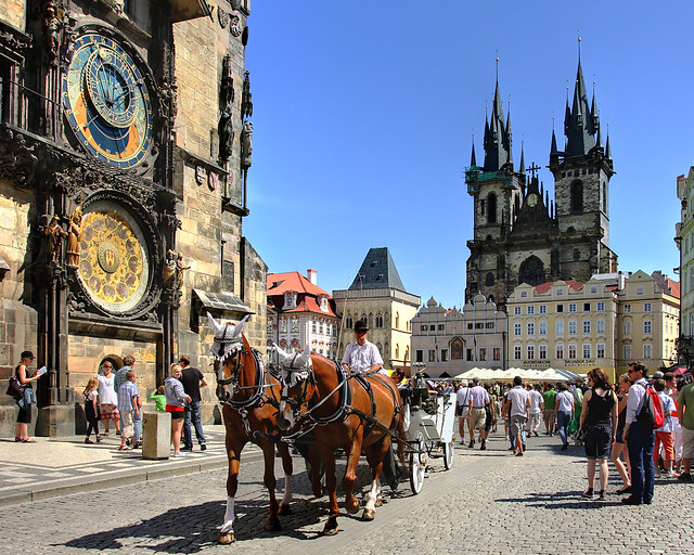 Reloj Astronómico de Praga uno de los lugares imprescindibles que ver en Praga