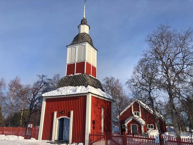 Iglesia de Jukkasjärvi (Laponia, Suecia)