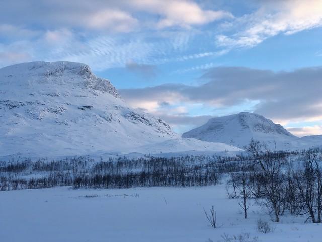 Paisajes invernales alrededor de Abisko en Laponia (Suecia)