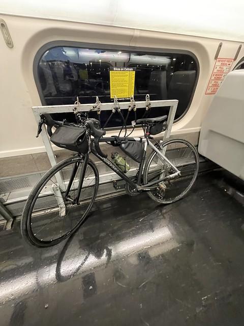 My road bikes first trip on the Caltrain