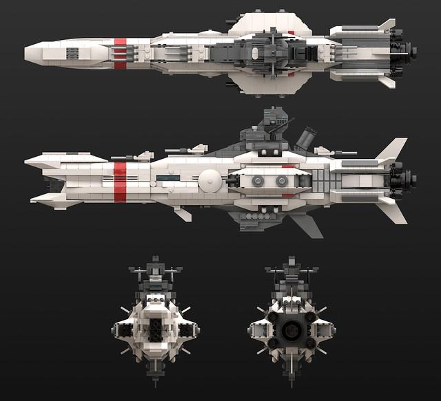HMS Repulse - Orthographic