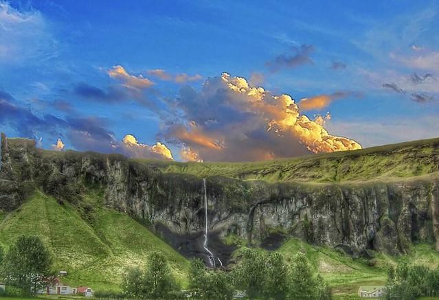 Iceland ~ Landmannalaugar Route ~  Ultramarathon is held on the route each July - Waterfalls