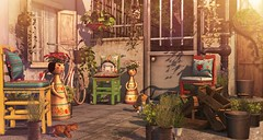 El patio de casa