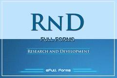 RnD Full Form
