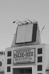 Giant Bible on top of Church Allapattah