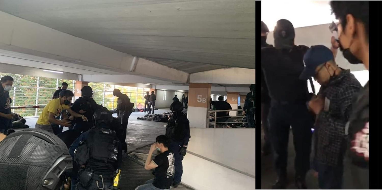 ภาพการจับกุมกลุ่ม WeVo ที่เมเจอร์รัชโยธิน เมื่อ 6 มี.ค.2564 แฟ้มภาพ