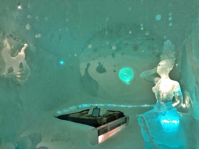 Habitación del hotel de hielo de Suecia