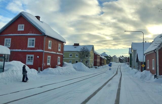 Calle de Kiruna (Laponia Sueca)