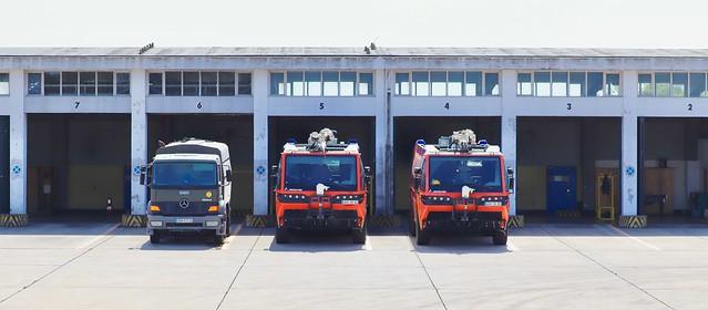 ARFF, camiones de bomberos de la base aerea de Beja, Portugal.