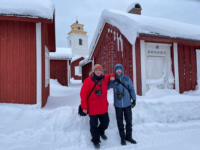 Sele y Roberto en Gammelstad (Laponia Sueca)