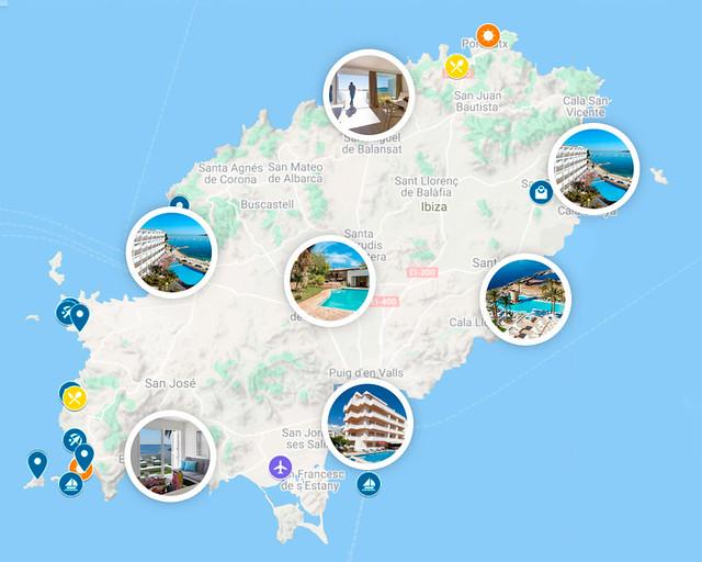 Selección de hoteles donde dormir en Ibiza