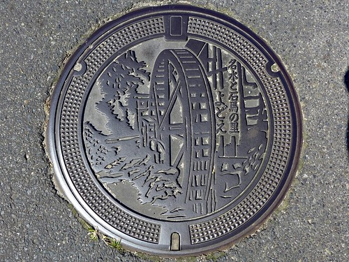 Yodoe Tottori, manhole cover (鳥取県淀江町のマンホール)