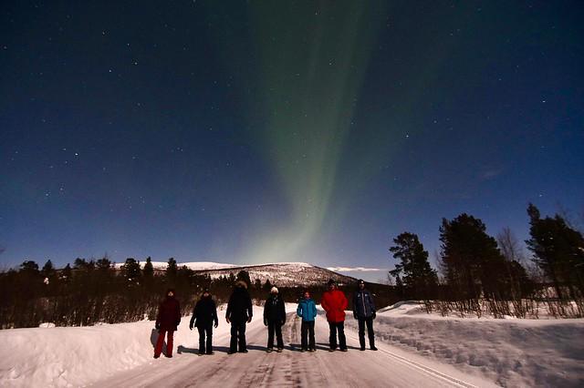 Uno de los grupos Pangea con los que viajamos en invierno a Laponia Sueca