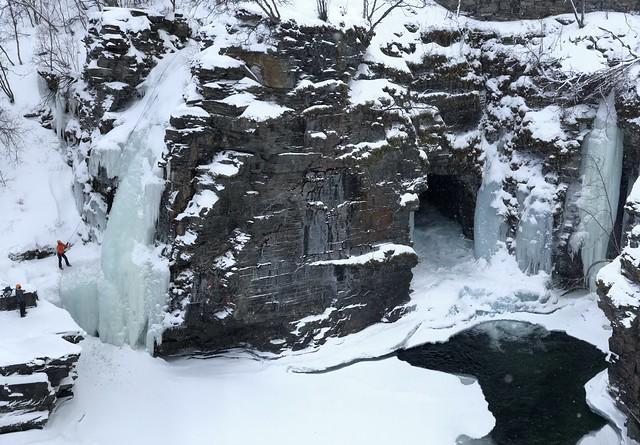 El cañón de Abisko (Laponia Sueca) en invierno