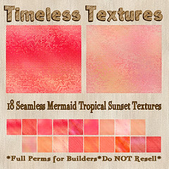 TT 18 Seamless Mermaid Tropical Sunset Timeless Textures