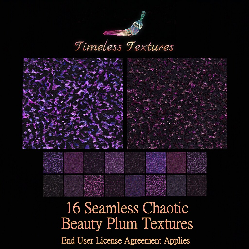 TT 16 Seamless Chaotic Beauty Plum Timeless Textures