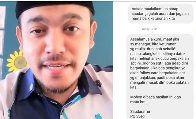 Reaksi Sharifah Sakinah Selepas Dinasihat Oleh Pu Syed Sebab Selalu Tunjuk Aset