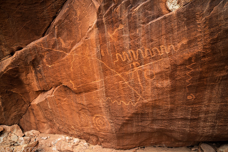 Alcove Petroglyph Panel