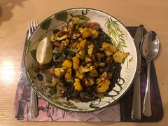 3 March 2021 - Moroccon lentils and roast couliflower