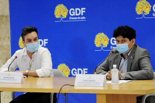 Coletiva sobre a situação da pandemia da covid-19 no DF