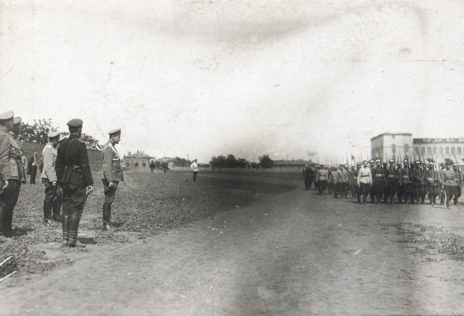 77. 1919. Генерал Сидорин на параде Донской армии.Ростов-на-Дону