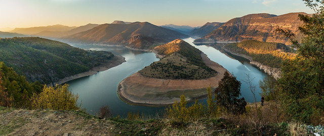 Meander of Arda river, Kardjali dam, Bulgaria