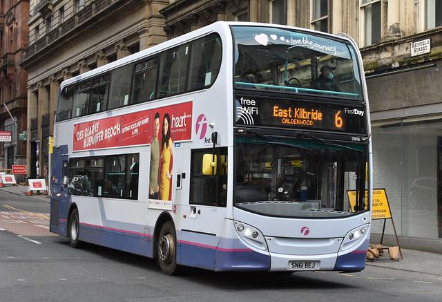 First Glasgow Alexander Dennis Enviro 400 33916