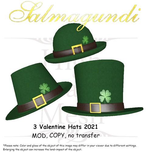 FREE Groupgift: 3 St. Patrick's Day Hats 2021